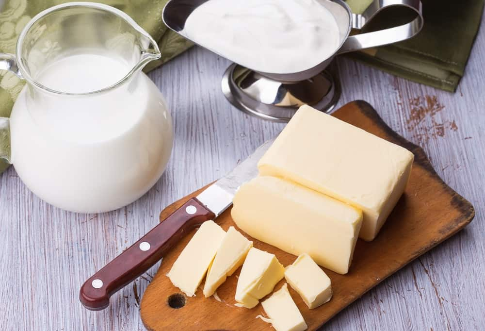light cream with butter