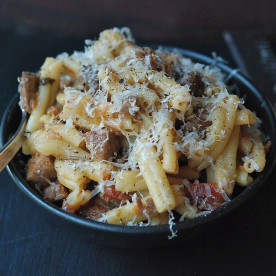 what is tagliatelle pork pasta
